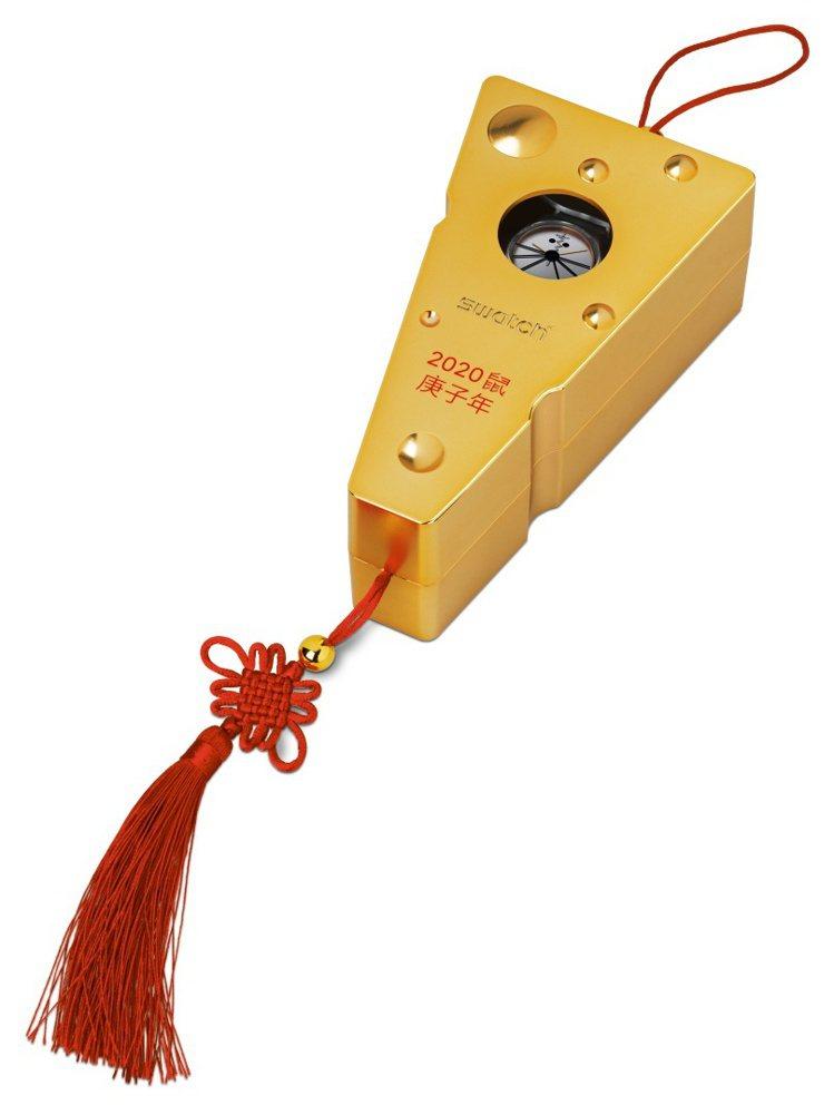 SWATCH推出全新的「芝芝吱吱」鼠年生肖限量表,還搭配了金色起司造型收納盒。圖...