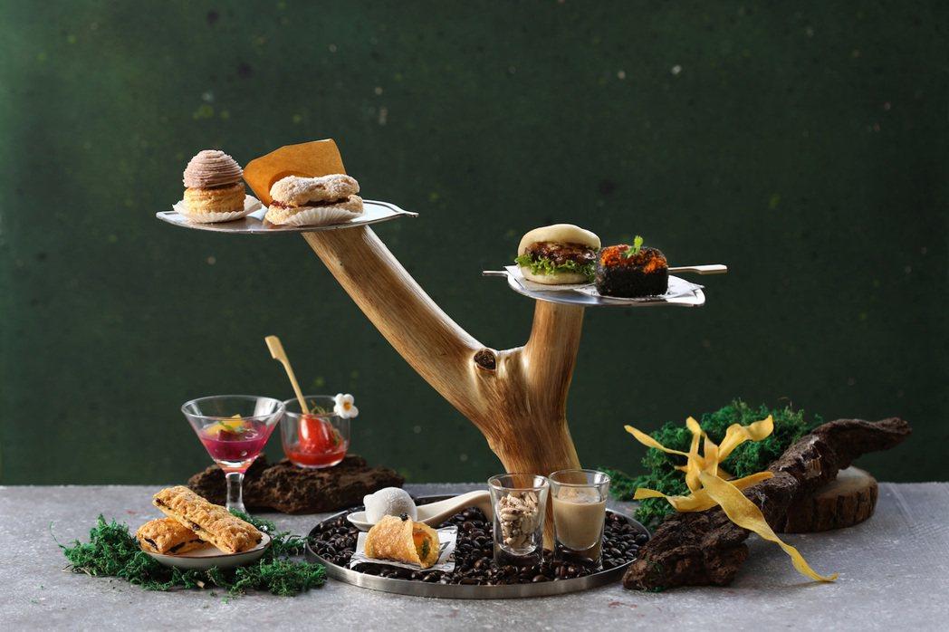北投麗禧溫泉酒店推出全新「麗禧下午茶」,將台灣小吃以法餐手法優雅再現。圖/北投麗...