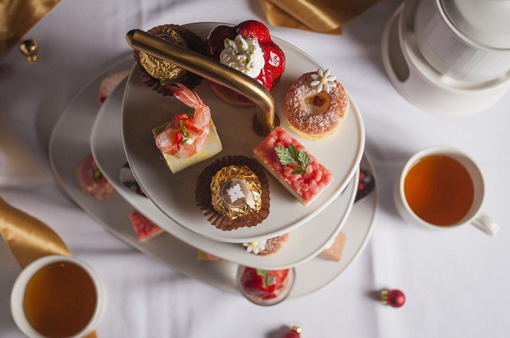 美麗信粉莓甜心雙人下午茶。圖/美麗信花園酒店提供