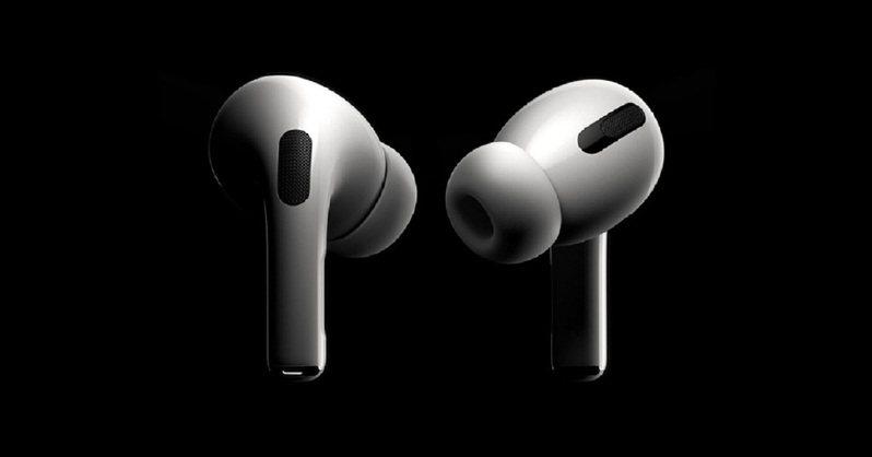 台灣尚未開賣的最新款Apple Airpods Pro無線藍牙抗噪耳機。圖/露天拍賣提供