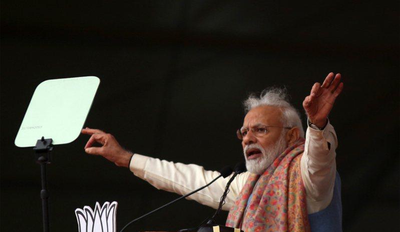 印度總理莫迪。 美聯社