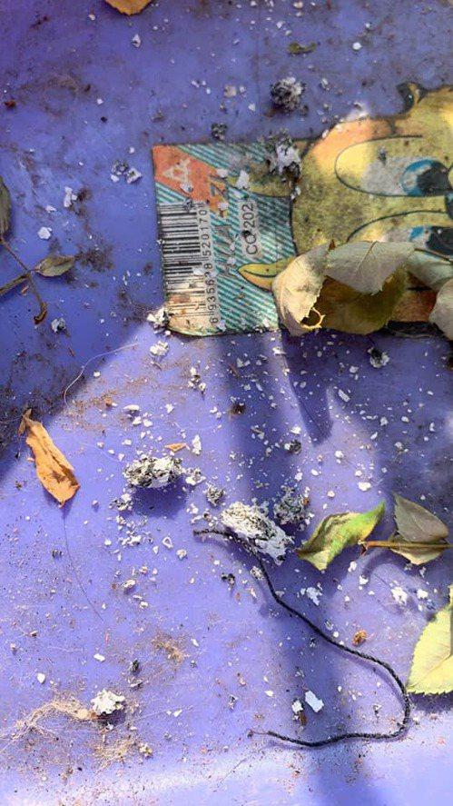 原PO一早起來曬衣服,看到滿地菸灰更加火大。圖片來源:臉書