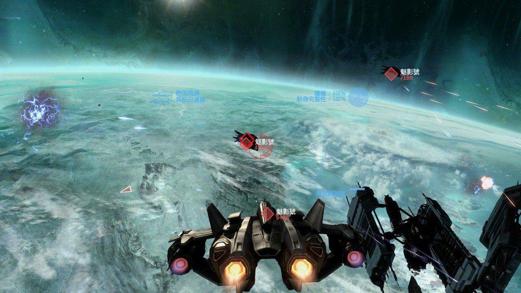 隨著劇情的推進,玩家也有機會駕駛軍刀號戰鬥機在太空中進行太空大戰(瞬間變成飛行遊...