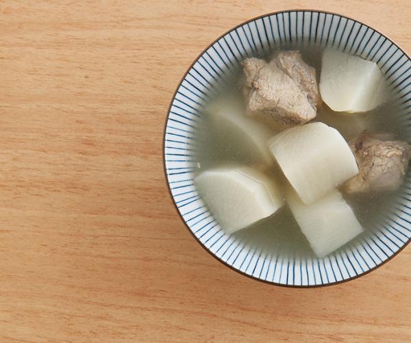 白蘿蔔排骨湯。 圖片來源/台灣好食材(來源:王正毅、《eco kitchen新料...