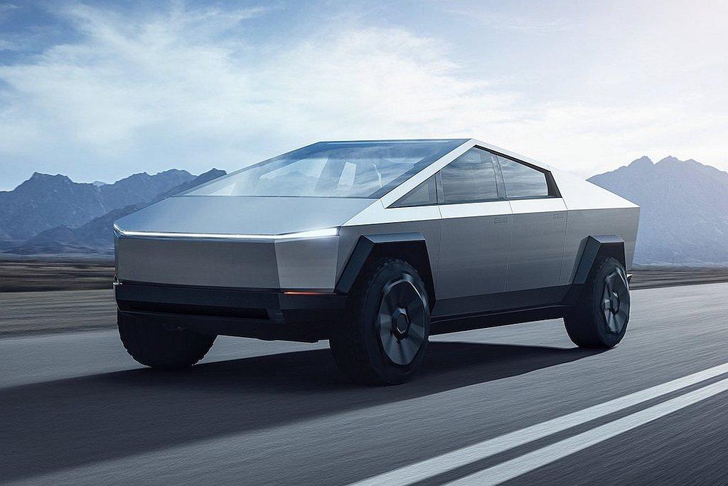 特斯拉Cybertruck車頭無法通過行人撞擊測試所需的設計,因為前保險桿與引擎...