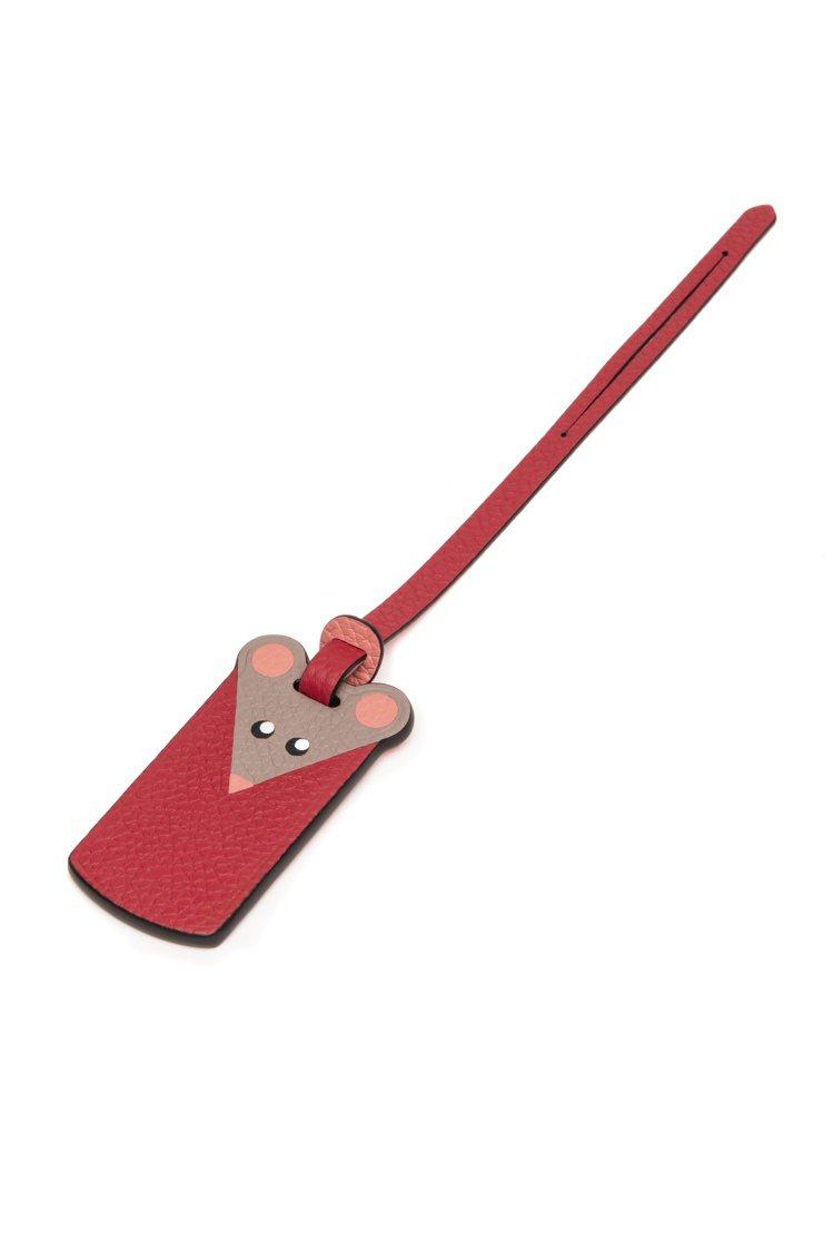 鼠年限定Mosaïque皮革鑲嵌系列吊飾,13,300元。圖/MOYNAT提供