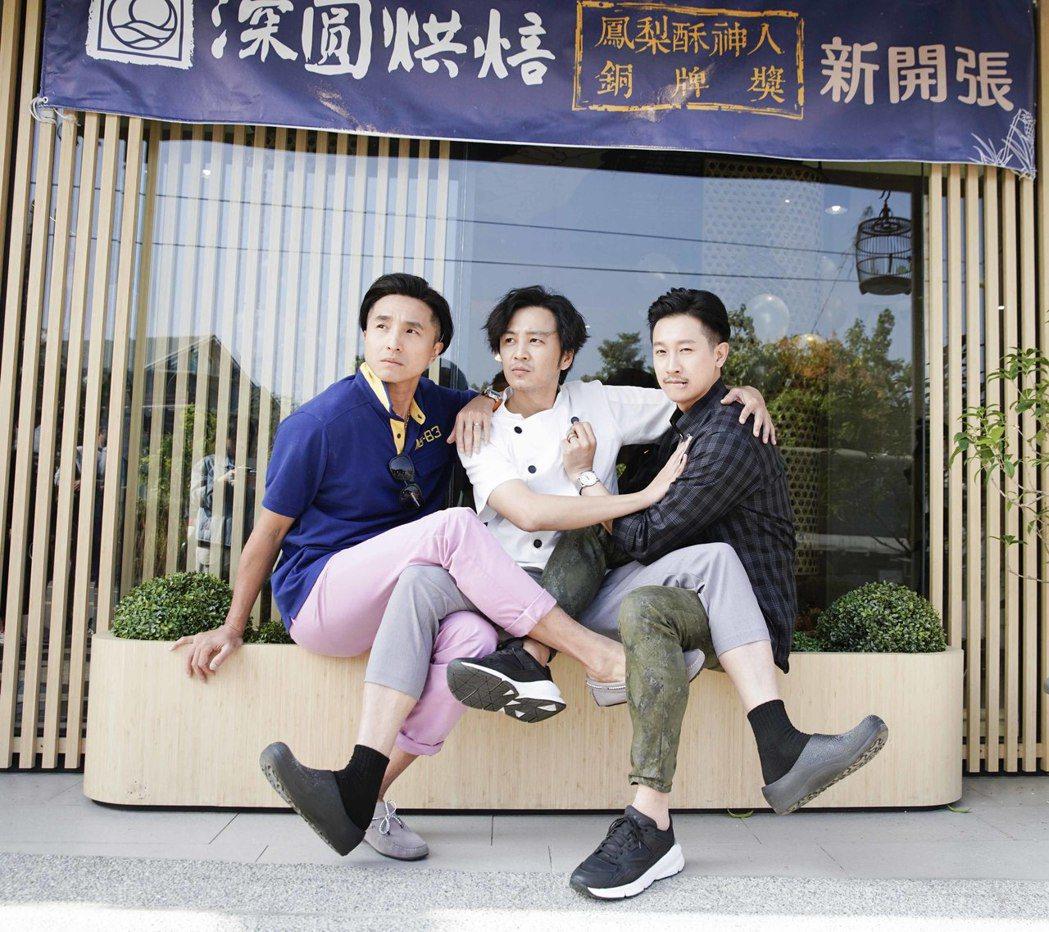 王少偉(左起)、張書偉、Darren昔日都是偶像男團出道。圖/齊石提供