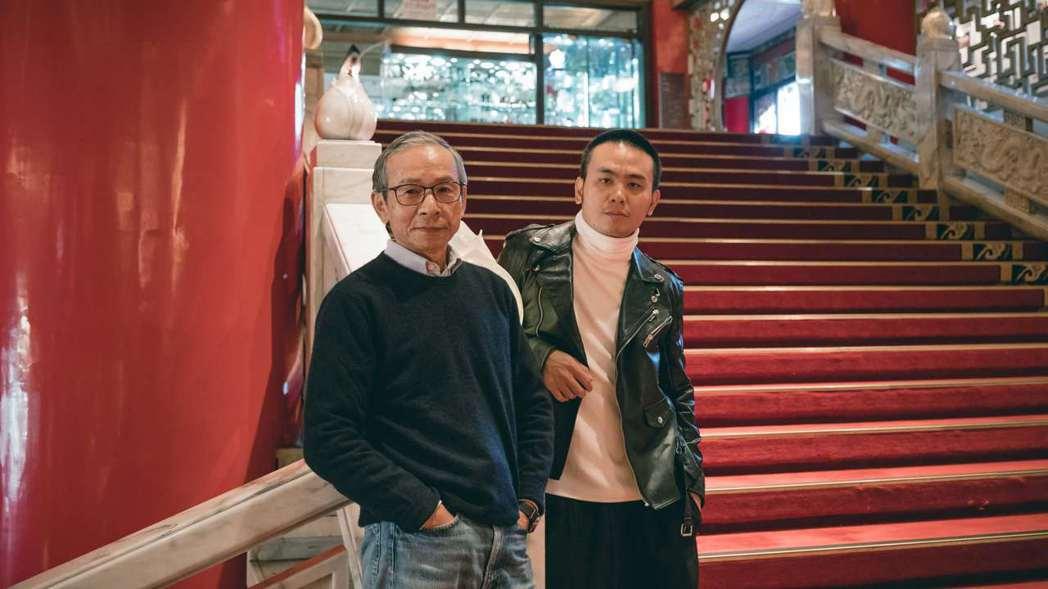 楊大正(右)很感謝吳念真一口答應拍攝MV。圖/火氣音樂提供