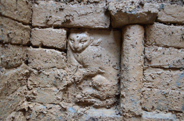 陜西早前發現的宋代家族墓中,驚現精美的貓磚雕。 圖/取自上海《文匯報》