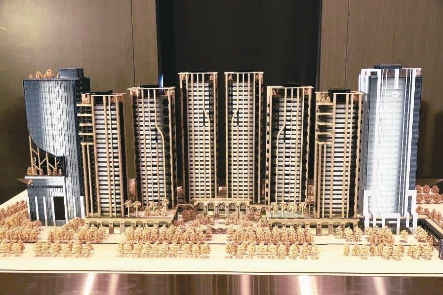 「世界明珠」規劃八棟大樓,其中兩棟商辦、六棟豪宅。 業者/提供