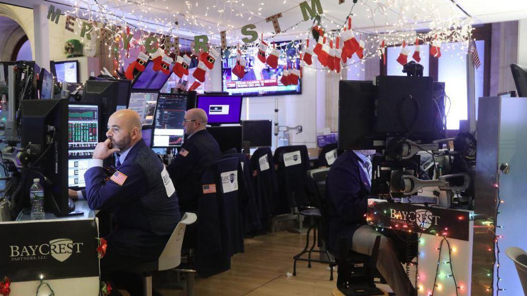 紐約股市周三提前在下午1點提前休市。 (法新社)