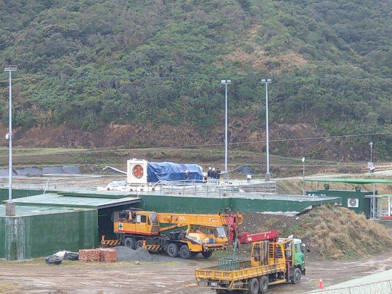 晉陞太空科技公司工程人員今天早上在台東達仁鄉南田火箭基地進行明天說明會先前作業準備。 聯合報記者尤聰光/翻攝