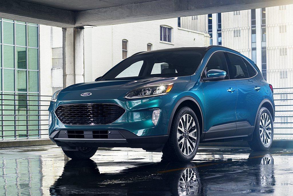 大改款Ford Escape提供EcoBoost渦輪增壓引擎、Hybrid複合動...