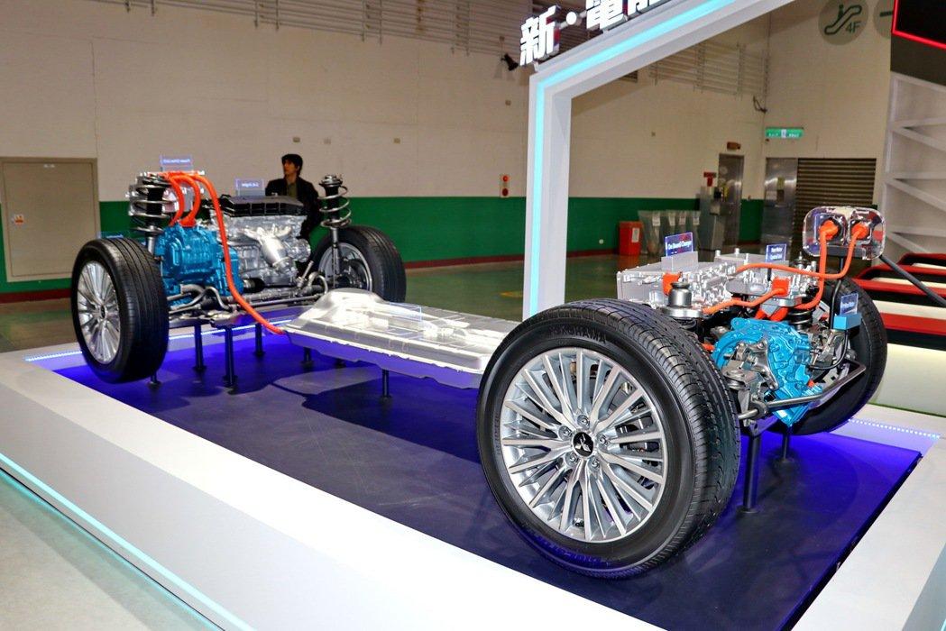 PHEV chassis model的概念結構。 記者陳威任/攝影