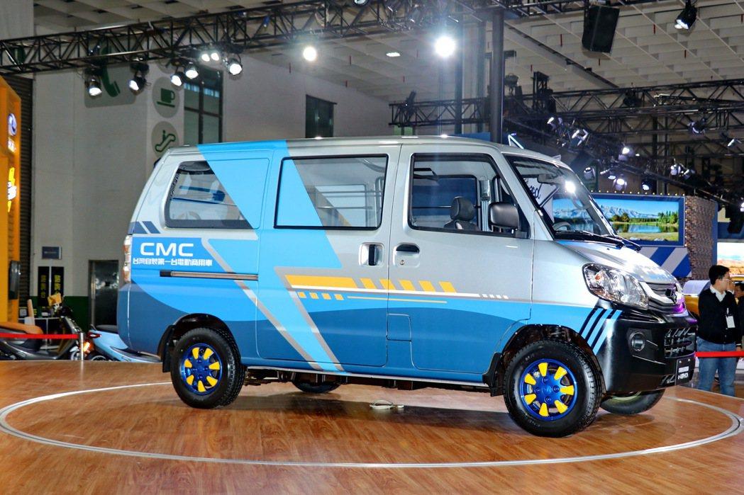 國內自製第一台商用電動車中華菱利e-VERYCA。 記者陳威任/攝影