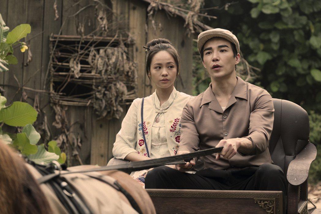 黃姵嘉(左)、林路迪演出「彼岸之嫁」。圖/Netflix提供