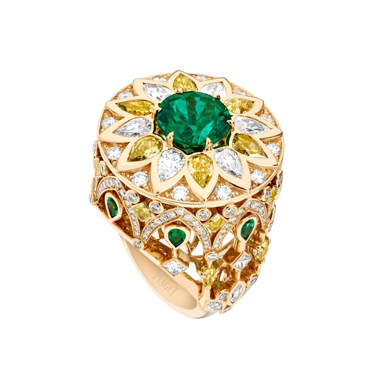 PIAGET,Secrets & Lights祖母綠頂級珠寶鑽石戒指,約585萬...
