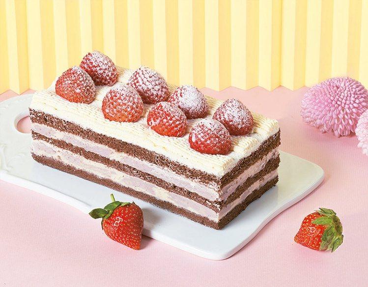 連珍草莓芋泥夾餡蛋糕,1入售價650元、8入售價3,592元,7-ELEVEN生...