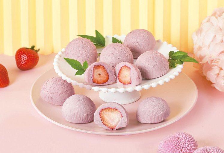 連珍草莓芋泥球,3條(9顆)售價535元、24條(72顆)售價2,664元,7-...