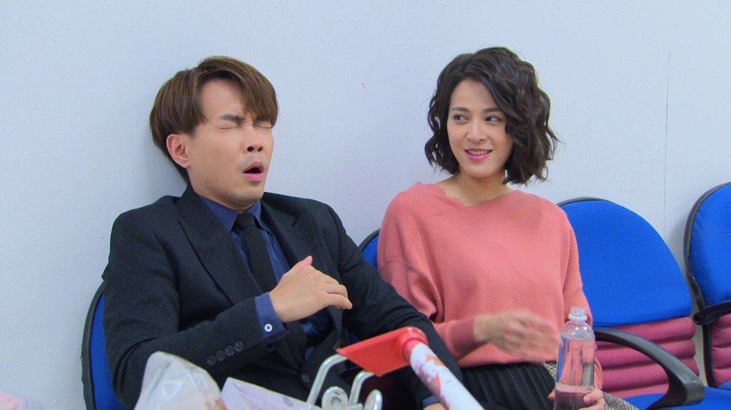 許仁杰(左)和蘇晏霈在「多情城市」中配對。圖/民視提供