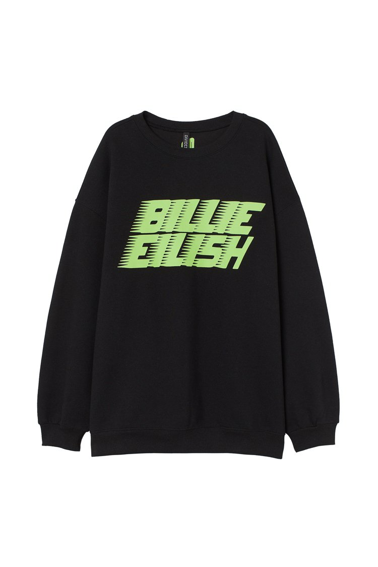 H&M X 怪奇比莉 Billie Eilish服裝系列 ,售價799元。圖/H...