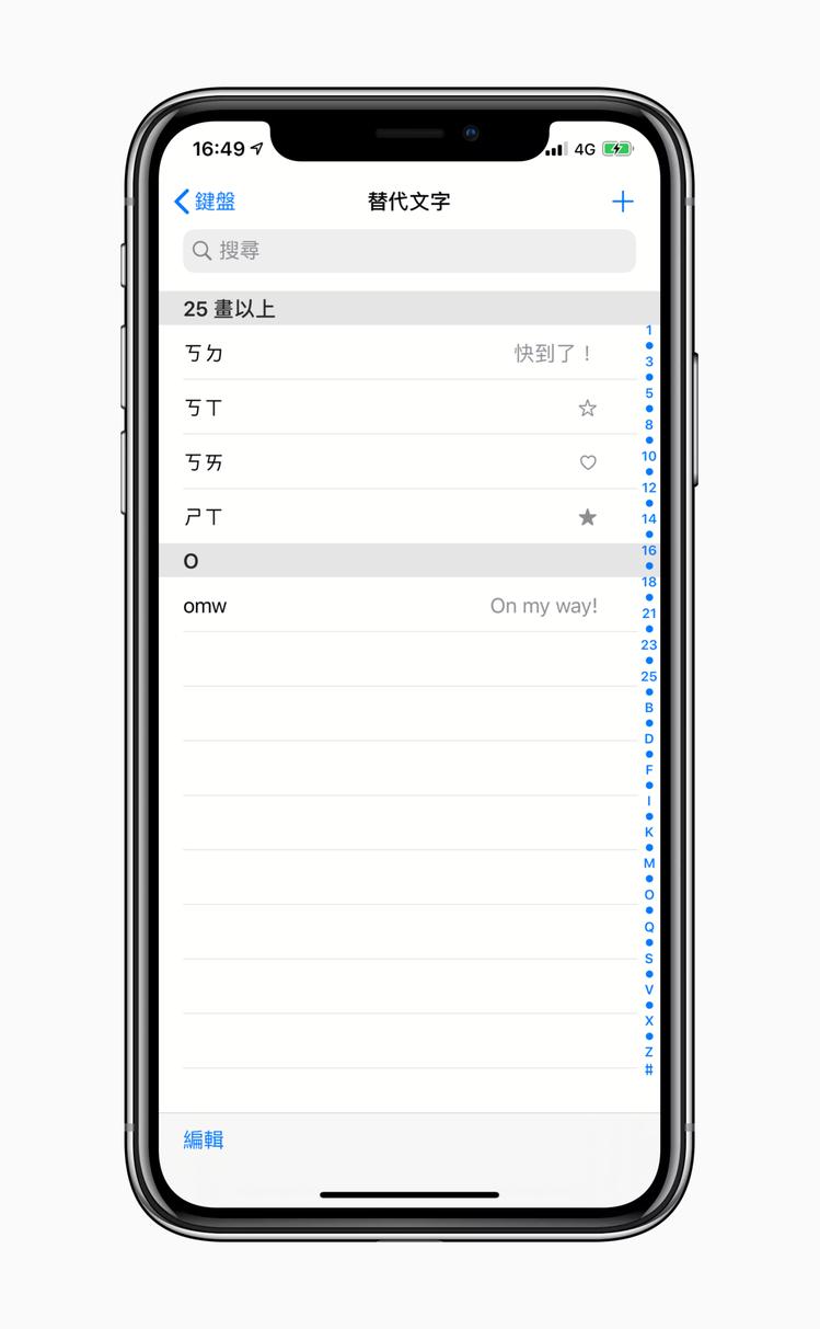 運用鍵盤替代文字設定功能,可以自訂許多特殊符號快速鍵。記者黃筱晴/攝影