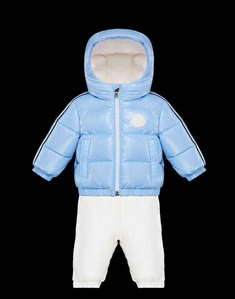 Chiara兒子Leone所穿的MONCLER童裝外套和吊帶褲,售價400英鎊、...