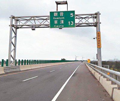 桃園台61線觀音至新屋段區間測速明年元旦上路。 圖/警方提供