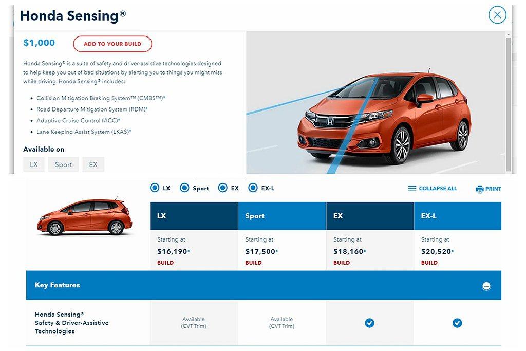 過往LX、Sport兩車型若選擇CVT無段變速系統可用1,000美元金額選配Ho...