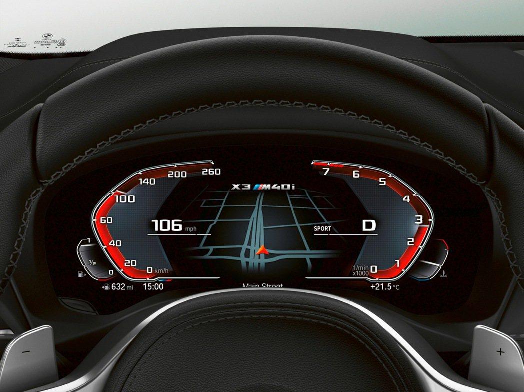 全新標準配備BMW全數位虛擬座艙,包含12.3吋虛擬數位儀錶、10.25吋中控觸...
