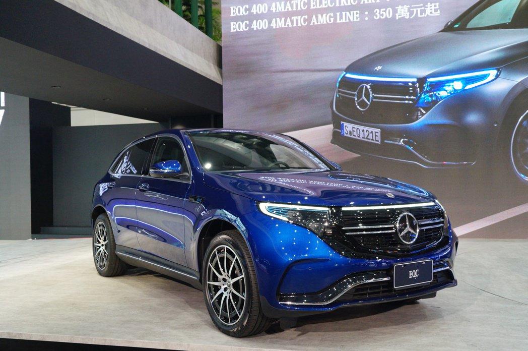 Mercedes-Benz EQC電動休旅。 記者趙駿宏/攝影