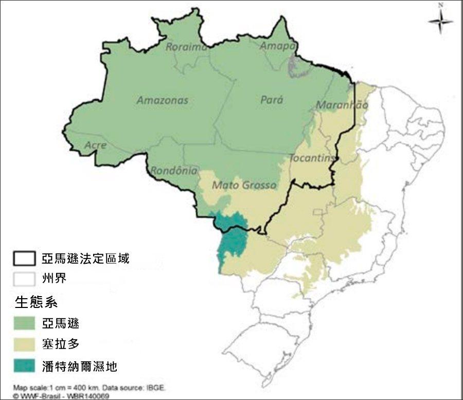需要注意的是——亞馬遜法定區域(Amazônia Legal)內,除了亞馬遜雨林...