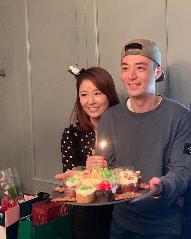 林心如(左)與霍建華。圖/摘自臉書