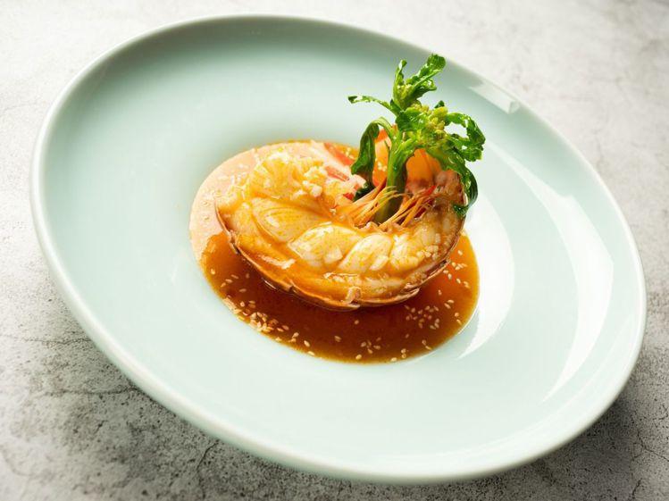 酸菜芝麻龍蝦尾。圖/台北國賓提供
