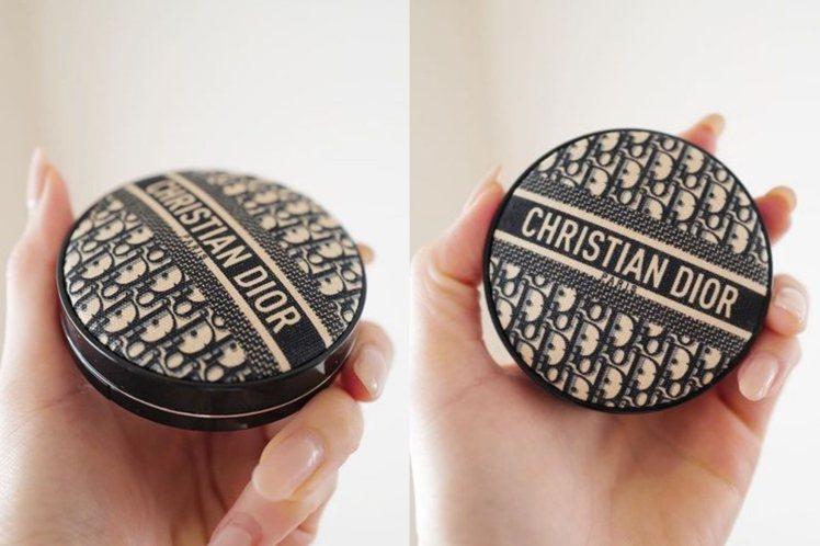 DIOR迪奧超完美柔霧光氣墊粉餅-經典緹花版/2,500元。圖/摘自微博