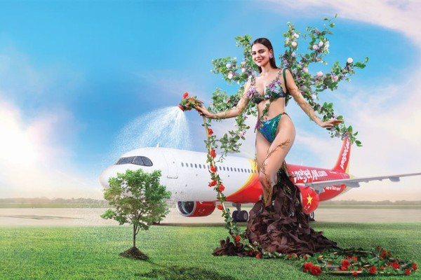 每個月都呼應著愛地球主題。圖/越捷航空提供