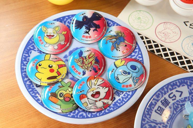 寶可夢磁鐵設計有8種不同角色造型。記者陳睿中/攝影