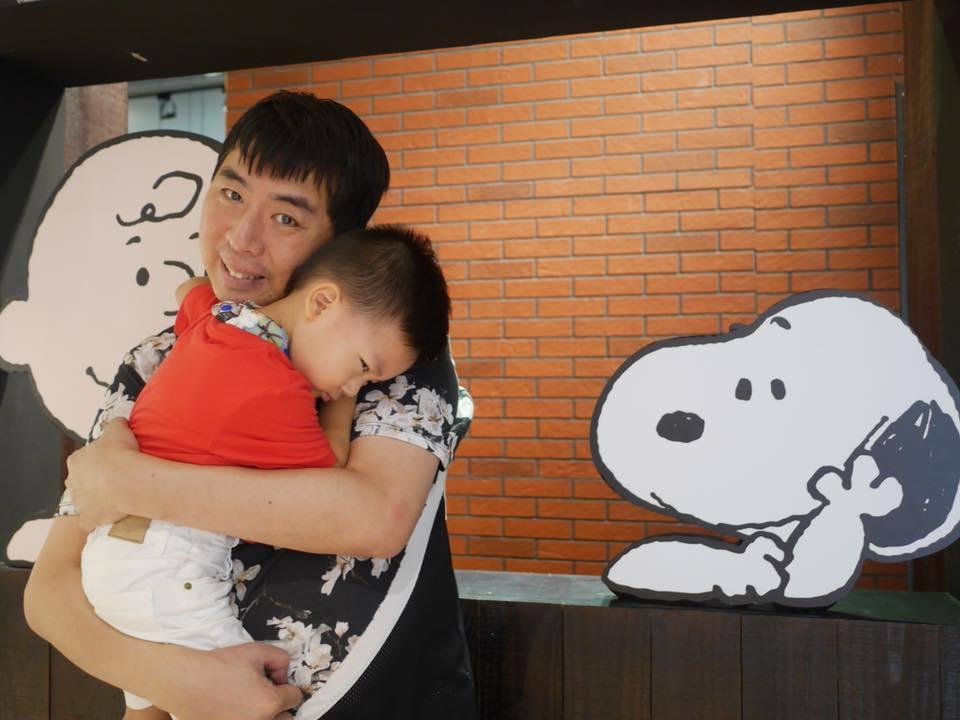 梁赫群愛小孩,想一輩子當兒子的好朋友。圖/梁赫群提供