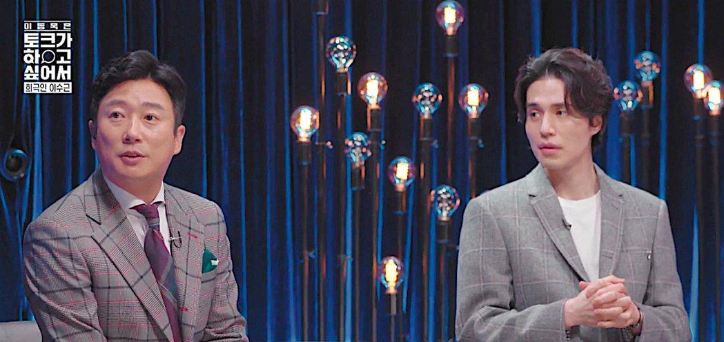 韓知名諧星李壽根擔任「李棟旭想做脫口秀」嘉賓。圖/friDay影音提供
