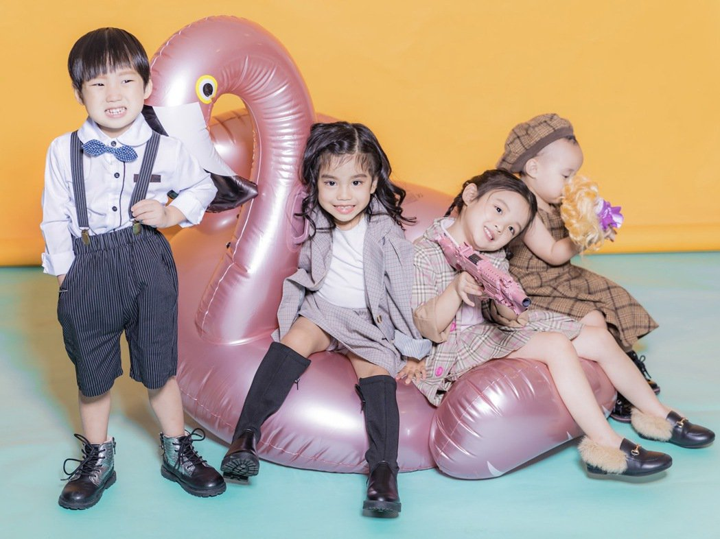 「花錢王MFK」成員朵朵(右起)、花苞、黑莉和錢寶。圖/UTS KID MUSI...