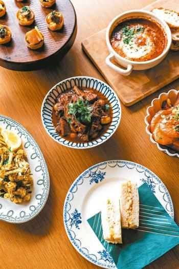 簡單的下酒菜,配上一杯酒,用餐也可很輕鬆。 圖/有鹿文化提供