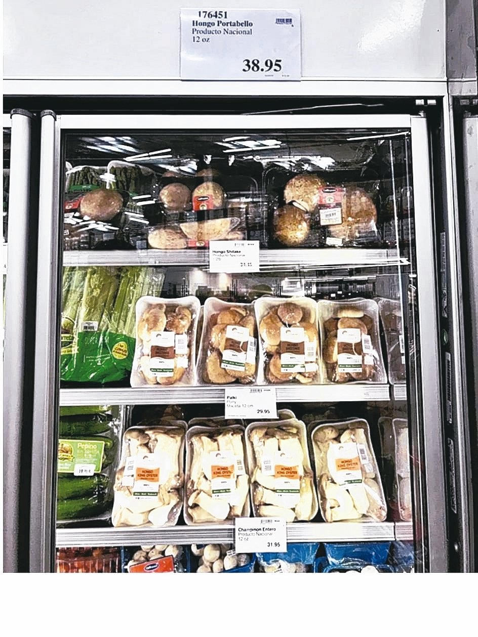 開陽集團瓜地馬拉分公司種植的菇類在當地上架販售,以Virtud Milhongo...