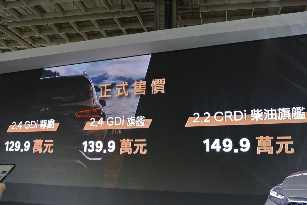 Hyundai Santa Fe 正式售價。 記者黃俐嘉/攝影