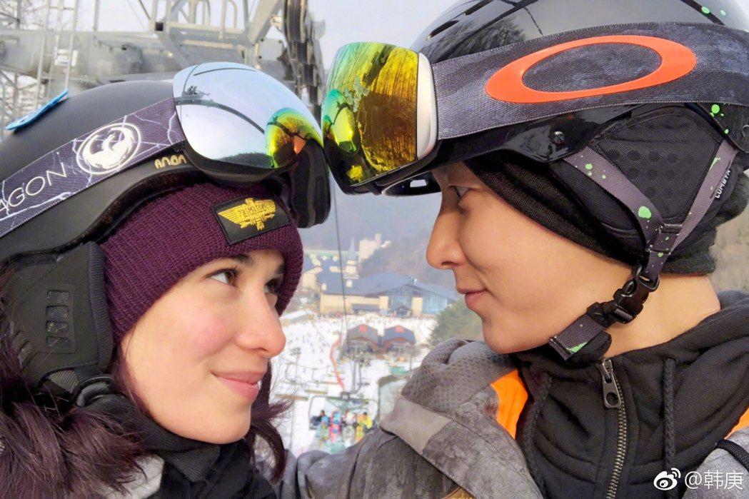 韓庚與盧靖姍被爆31日結婚。圖/擷自微博