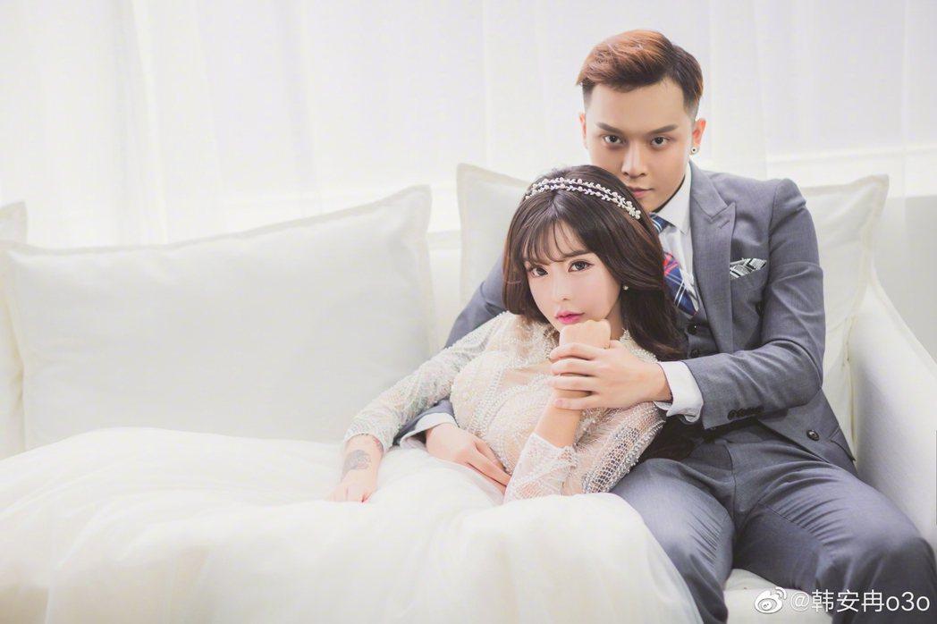 大陸網紅夫妻檔韓安冉、小豬先生已離婚。圖/擷自微博