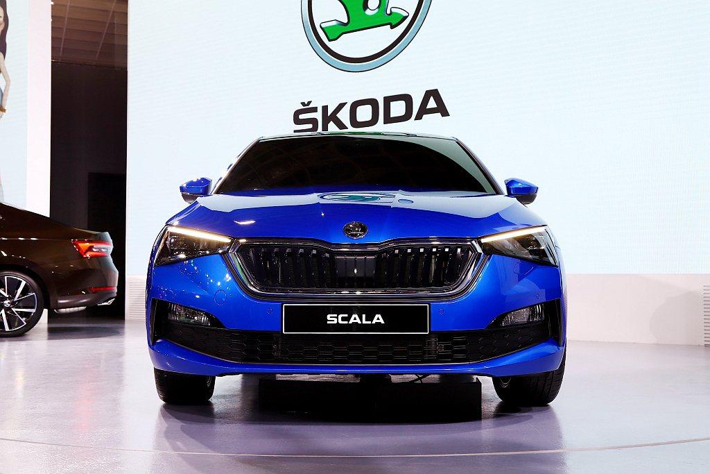 2020台北世界新車大展Skoda汽車秀出旗下新世代掀背車Scala。 記者張振...