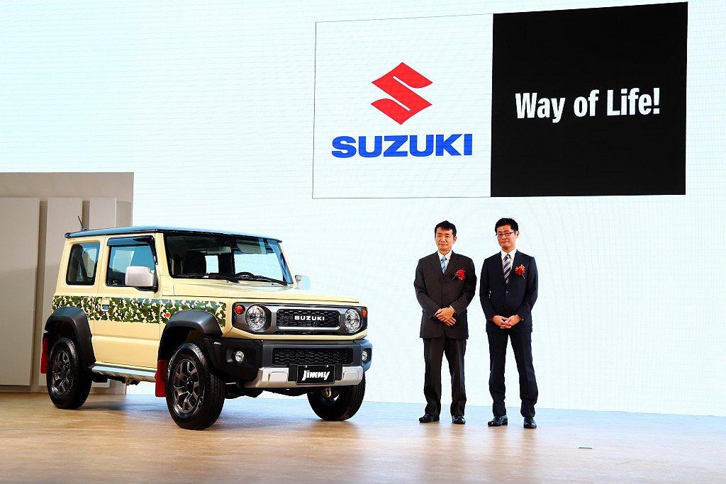 Suzuki汽車於2020台北車展全車系到位,亦同步亮相Jimny特仕車。 記者...