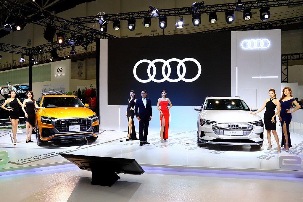 台灣奧迪展出時尚轎旅Audi A4、休旅新星Audi Q3、都會潮流掀背Audi...