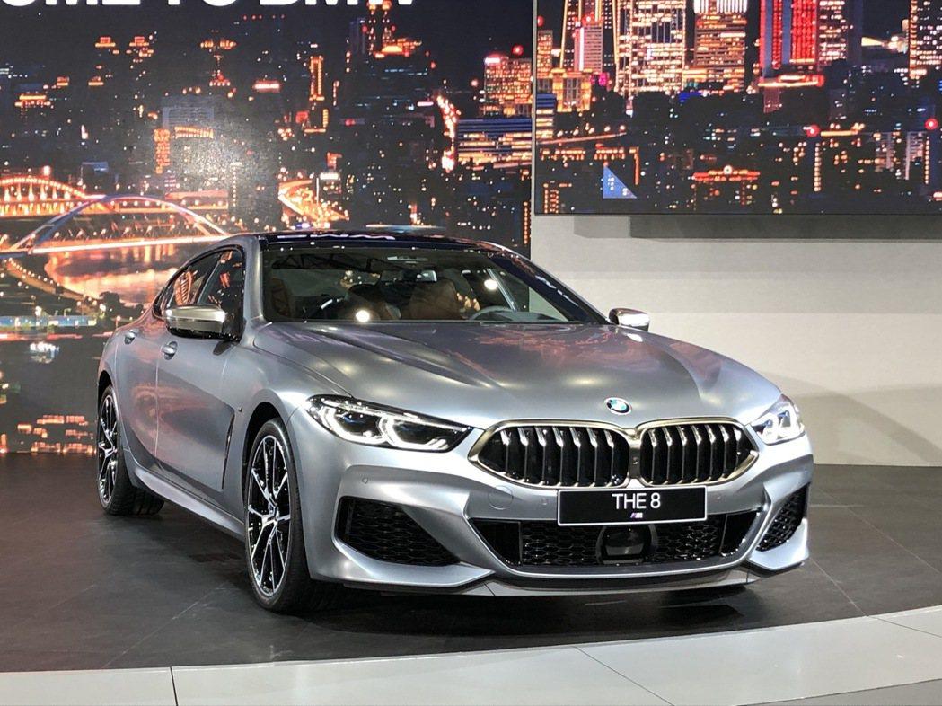 BMW 8 Series Gran Coupe。 記者黃俐嘉/攝影