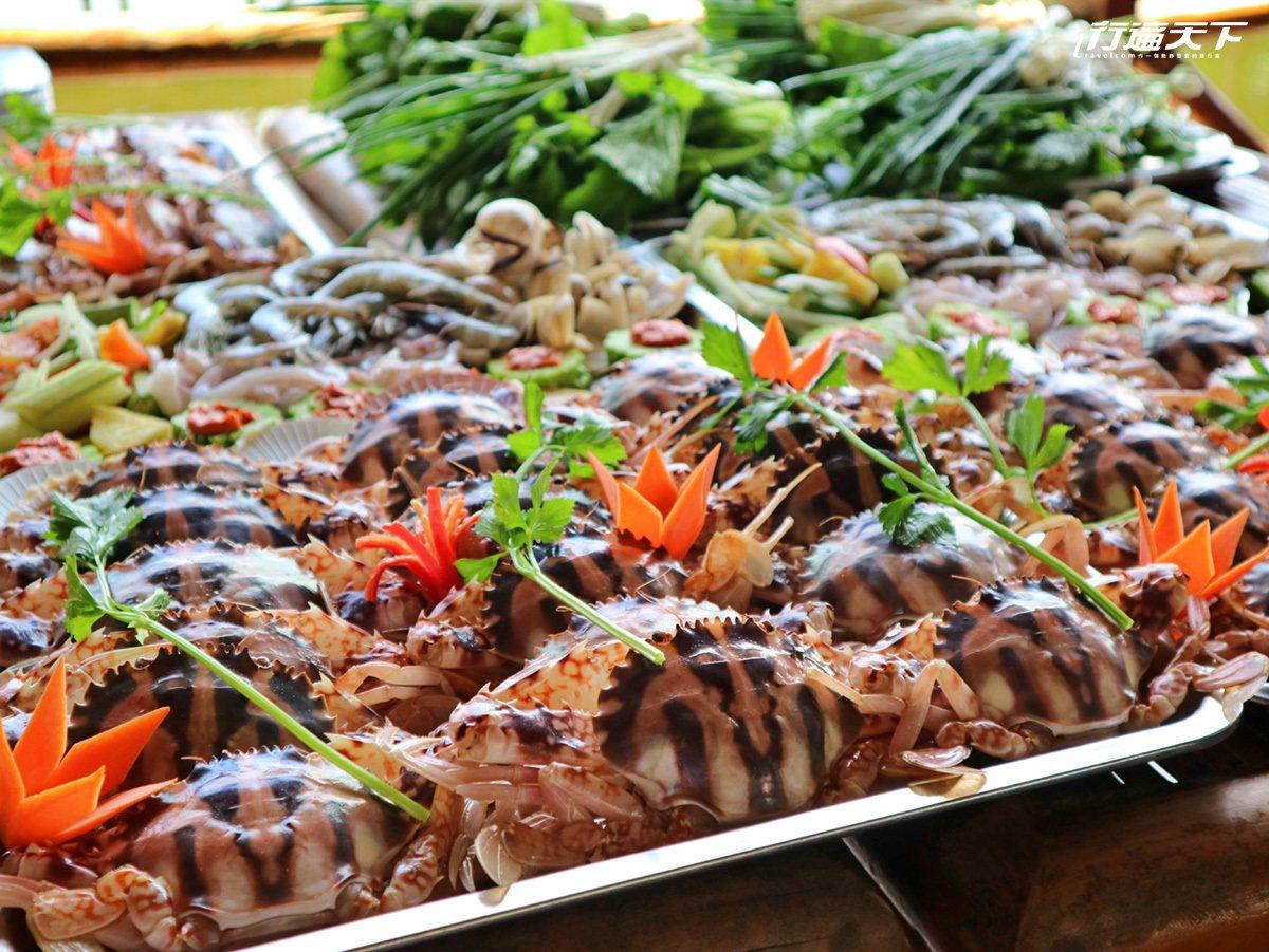 海產聞名的中越,現撈螃蟹吃到飽,新鮮美味。